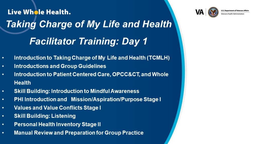 Day 2 PowerPoint Slide for Taking Charge of My Life and Health