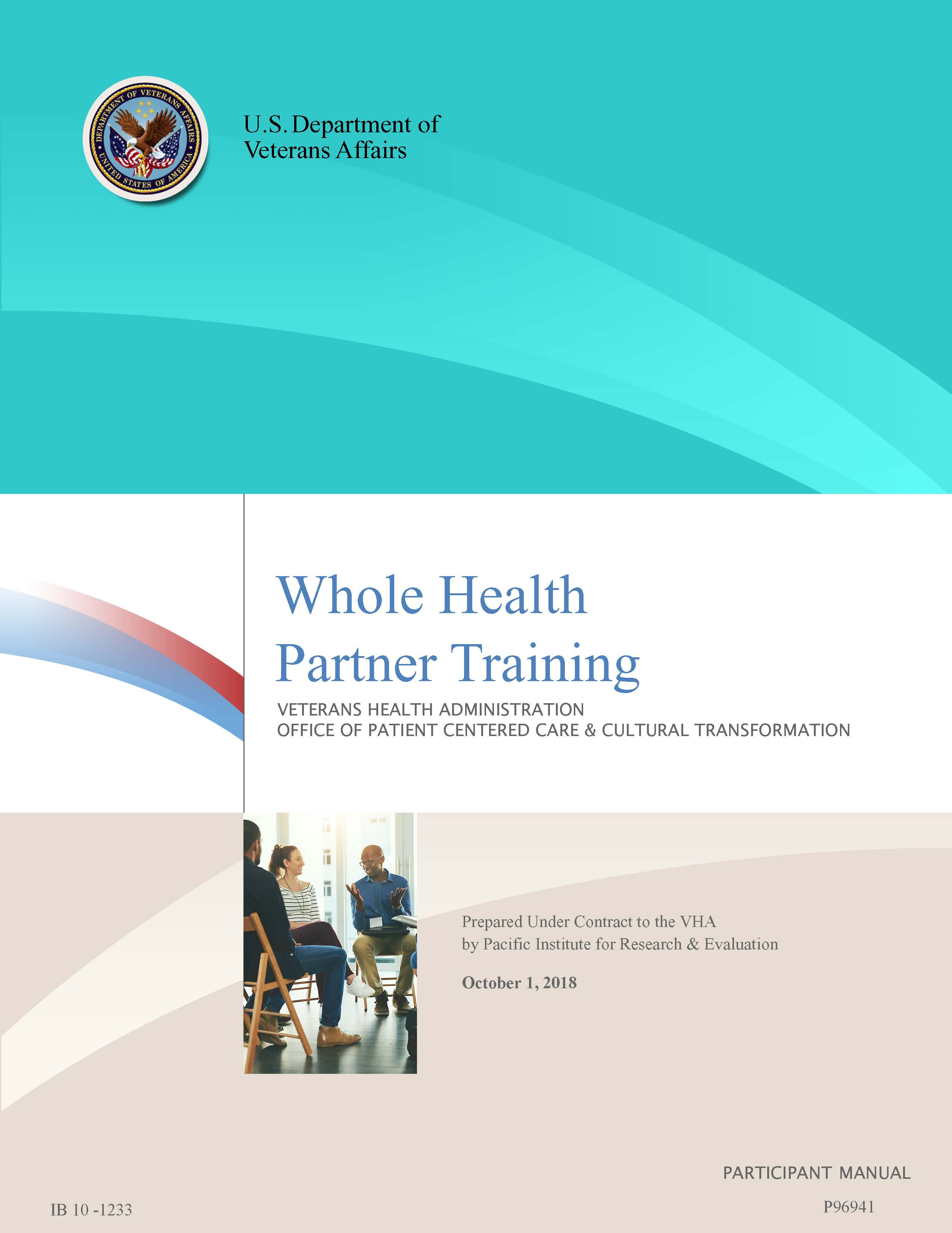 Whole Health Partner Manual Cover
